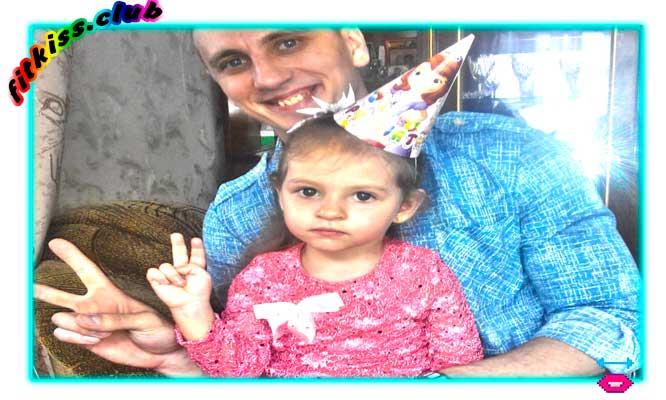 Охрименко Виталий и дочка Настенька