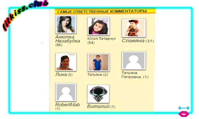 лучшие комментаторы на блоге Виталия Охрименко